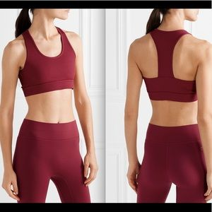 All Access Front Row Ribbed Sports Bra Red NWT